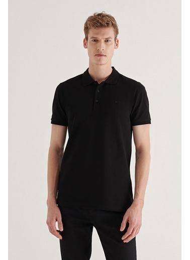 Avva Erkek  Polo Tişört A11B1146 Siyah